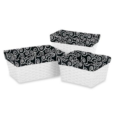 Black Baskets with Liners