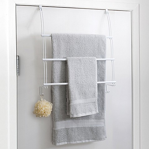 Buy Totally Bath Over The Door Towel Bar In White From Bed Bath Beyond
