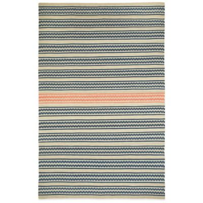 Genevieve Gorder by Capel Rugs Dokka Stripe 5-Foot x 8-Foot Rug in Stone Salmon