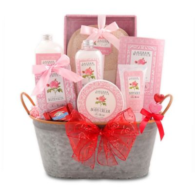 12 Roses Spa Gift Basket by Alder Creek Gift Baskets