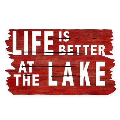 "Masterpiece 18-Inch x 30-Inch ""Life is Better at the Lake"" Door Mat"