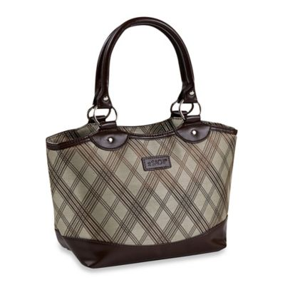 Sachi™ Classic Insulated Lunch Tote in Brown Plaid