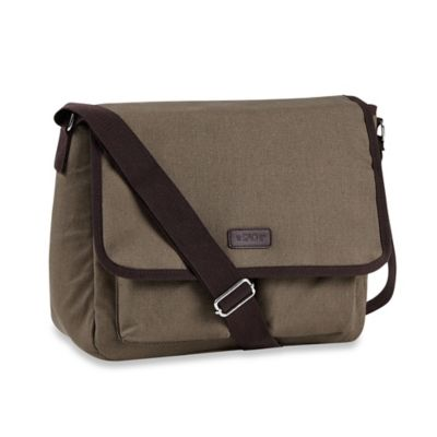 Sachi™ Canvas Messenger Insulated Lunch Tote in Olive