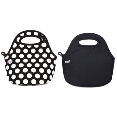 Built NY® Neoprene Gourmet Getaway Mini Snack Tote in Black/White