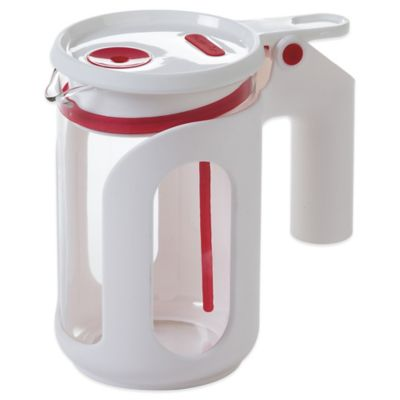 Progressive® 25 oz. Whistling Microwave Tea Kettle in Red/White