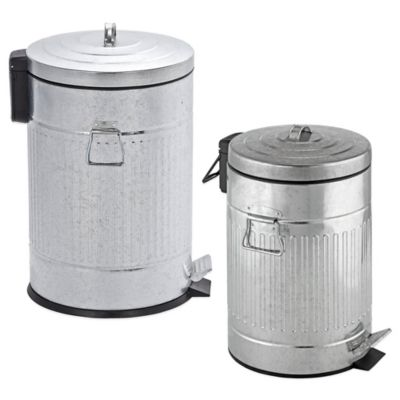 Steel 12-Liter Step-On Trash Can