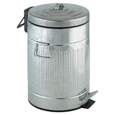 Steel 12-Liter Step-On Trash Can