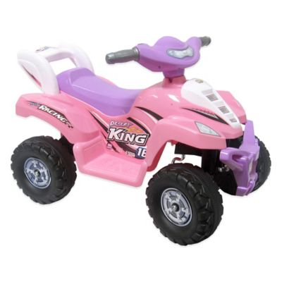 Battery Operated One-Seater Ride-On Quad in Pink