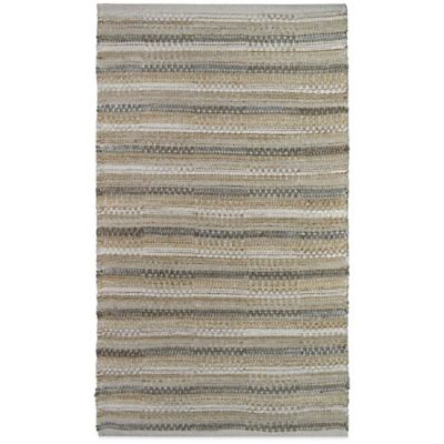 Chenille Strip 1-Foot 8-Inch x 2-Foot 10-Inch Rug in Limestone