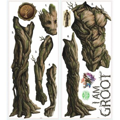 York Wallcoverings Guardian Galaxy Groot Peel and Stick Giant Wall Decals