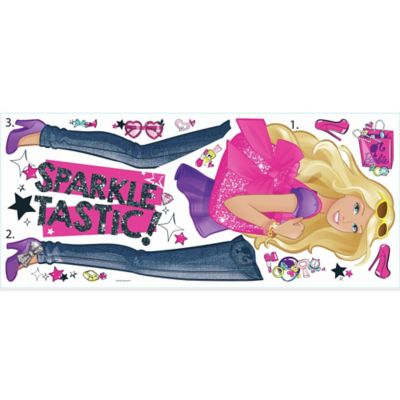 York Wallcoverings Barbie Pinktastic Peel and Stick Giant Wall Decals