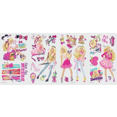 RoomMates Barbie Pinktastic Peel and Stick Wall Decals