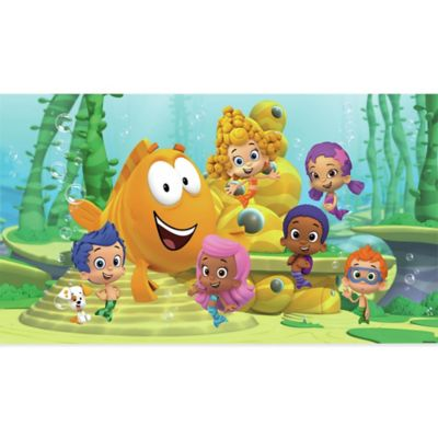 York Wallcoverings Bubble Guppies XL Chair Rail Prepasted Mural