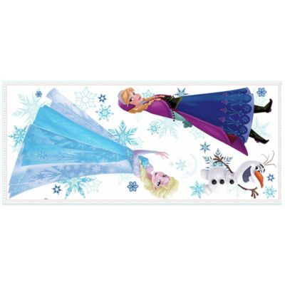 """York Wallcoverings Disney® """"Frozen"""" Anna, Elsa, and Olaf Peel and Stick Giant Wall Decals"""