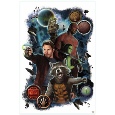 York Wallcoverings Guardians of the Galaxy Heroes Wall Graphix Peel and Stick Giant Wall Decals