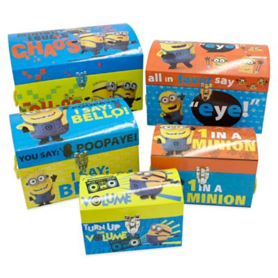 Minions Nested Dome Trunks (Set of 5)