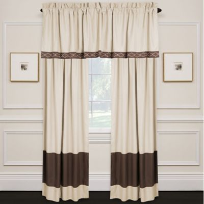 Lexiara Window Valance in Taupe/Brown