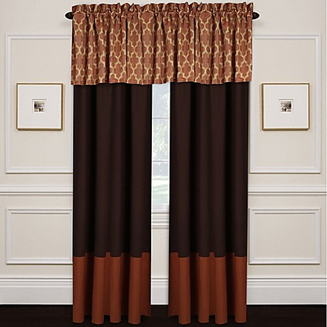 Wayfield Window Curtain Panel And Valance In Spice Bed Bath Beyond