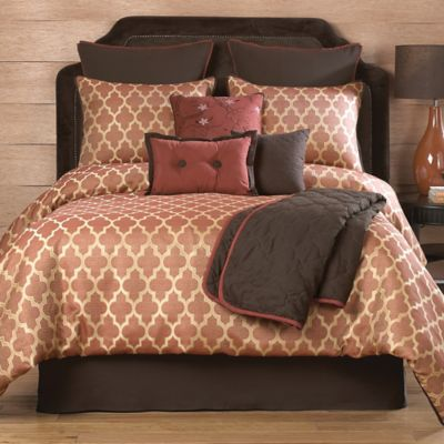 Wayfield 10-Piece Queen Comforter Set in Spice