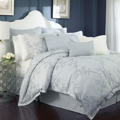 Charisma Adina Full/Queen Duvet Cover Set in Mist