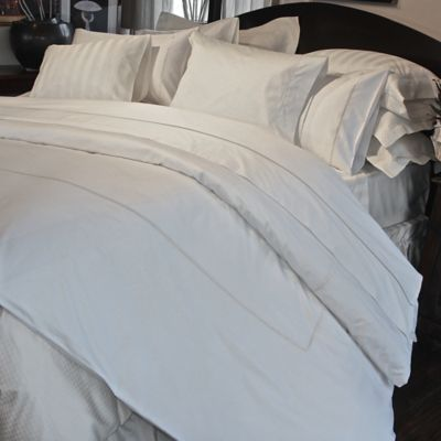 Versai Claudia Embroidered Rope Luxury Italian-Made King Duvet Cover in White