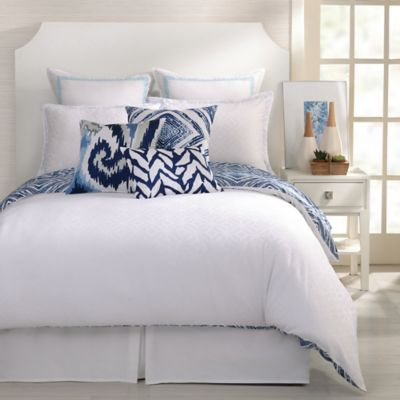 Trina Turk® Silver Lake Reversible Full/Queen Comforter Set in Blue/White