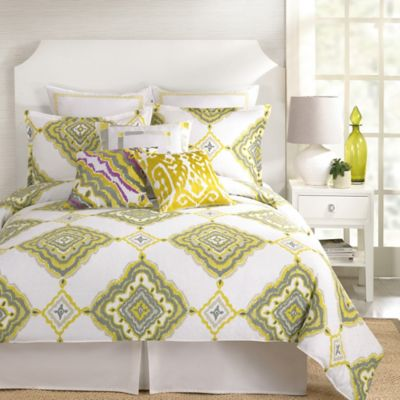Trina Turk® Twiggy Ikat Twin Comforter Set in Yellow/Grey
