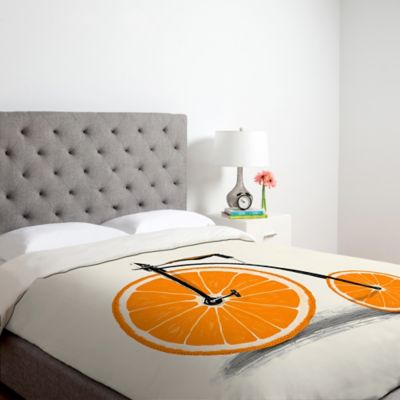 DENY Designs Florent Bodart Vitamin Twin Duvet Cover in Orange