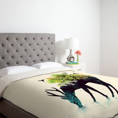 DENY Designs Budi Kwan Watering A Life Into Itself Queen Duvet Cover