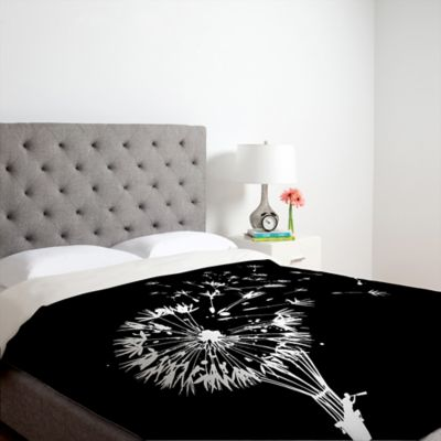 DENY Designs Budi Kwan Going Where the Wind Blows Queen Duvet Cover in Black