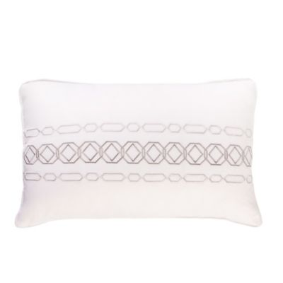 Charisma Bradford Boudoir Throw Pillow in White