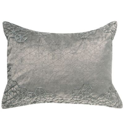 Charisma Bradford Oblong Throw Pillow in Silver