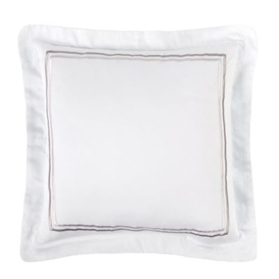 Charisma Bradford Square Throw Pillow in White
