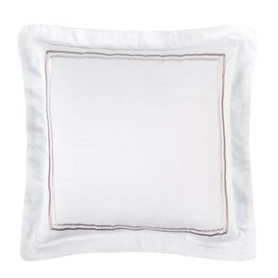 Charisma Bradford Square Throw Pillow in White