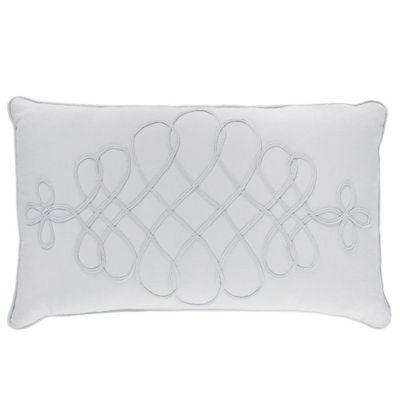 Charisma Adina Boudoir Throw Pillow in White