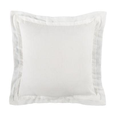 Charisma Adina Square Throw Pillow in White