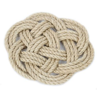 Latitude 38 9-Inch Nautical Jute Rope Knot Trivet