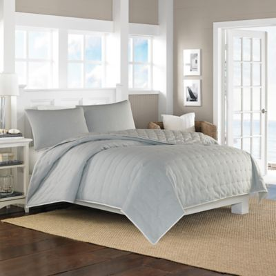 Nautica® Shelford Reversible Full/Queen Coverlet in Mineral