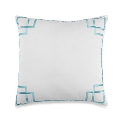 Dena™ Home Sloane Square Throw Pillow in Aqua