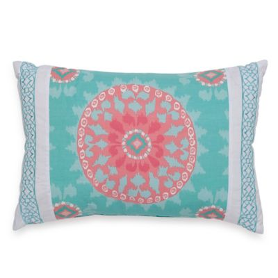 Dena™ Home Sloane Oblong Throw Pillow in Aqua