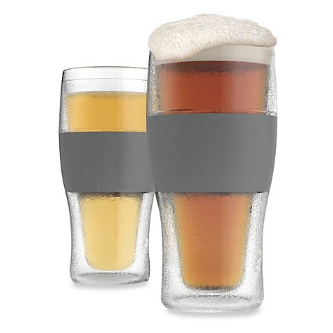 Host 174 Freeze 16 Oz Cooling Pint Glasses In Clear Set Of