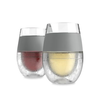 HOST® Freeze 8.5 oz. Cooling Wine Glasses in Clear (Set of 2)