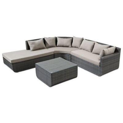 Zuo® Captiva 4-Piece Sectional Set in Espresso
