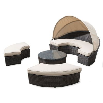 Zuo® Pigeon Point Daybed Patio Conversation Set