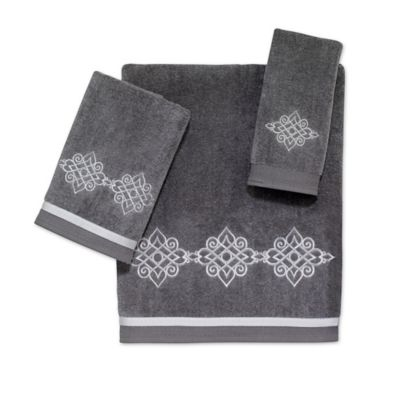 "White/Silver A"" Fingertip Towels"