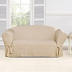 Sure Fit® Everyday Chenille 1-Piece Loveseat Slipcover in Tan