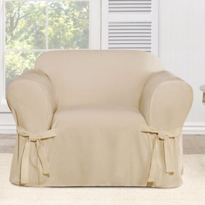 Sure Fit® Everyday Chenille 1-Piece Chair Slipcover in Tan