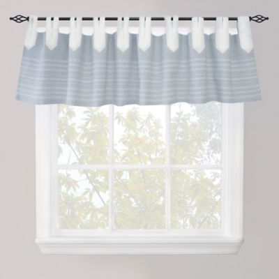 Park B. Smith Nordic Bands Window Valance in Chambray