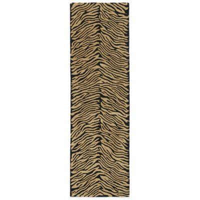 Kaleen Khazana Collection Tanganyika 2-Foot 3-Inch x 7-Foot 6-Inch Rug in Ebony
