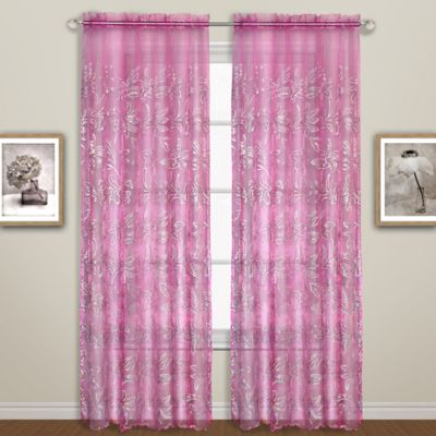 Bling 63-Inch Curtain Panel in Pink